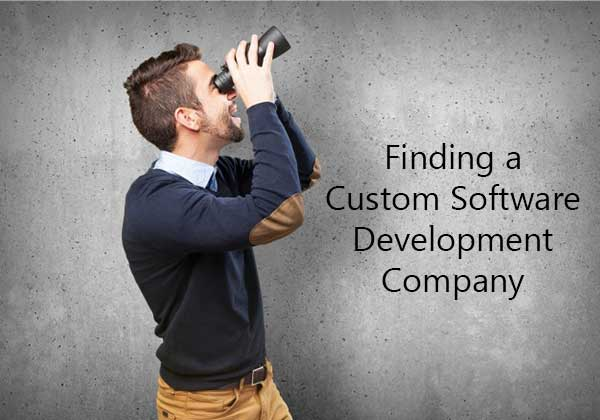 Finding a custom software development company