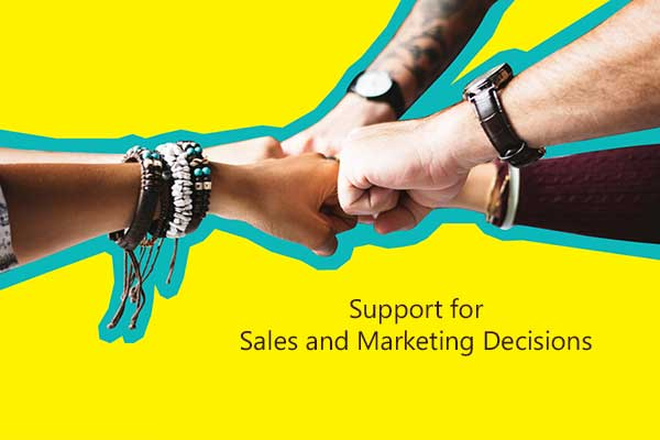 Support for Sales and Marketing Decisions